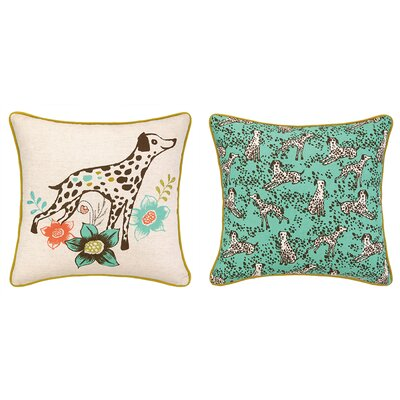 Dalmatian Printed Reversible Throw Pillow