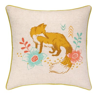 Fox Park Printed Reversible Throw Pillow