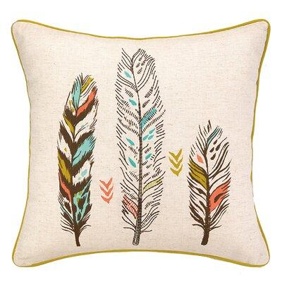 3 Feather Cotton Throw Pillow