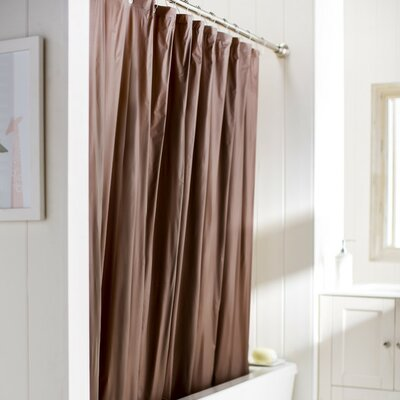 10 Gauge Heavy Duty High Quality Shower Curtain Color: Brown