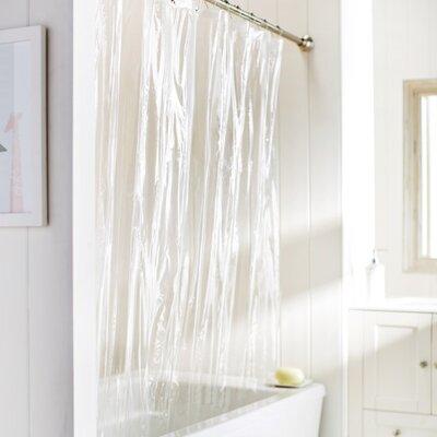 10 Gauge Heavy Duty High Quality Shower Curtain Color: Clear