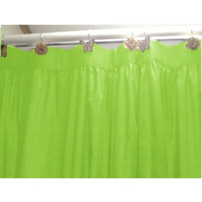 10 Gauge Heavy Duty High Quality Shower Curtain Color: Lime