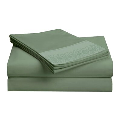 Hotel 4 Piece 1000 Thread Count Sheet Set Color: Sage