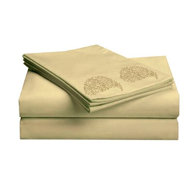 Hotel 1000 Thread Count Sheet Set Color: Brass, Size: Full