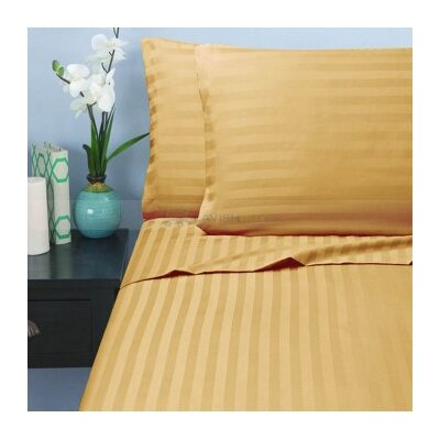 Hotel 1000 Thread Count Sheet Set Color: Wheat, Size: Queen