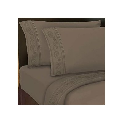 Hotel 4 Piece 1000 Thread Count Sheet Set Color: Truffle, Size: Queen