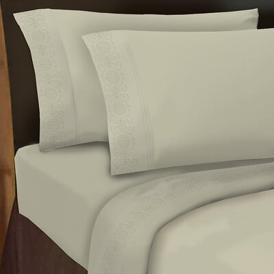Hotel 4 Piece 1000 Thread Count Sheet Set Color: Ivory