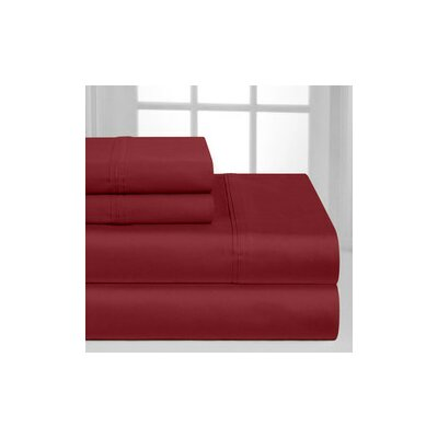 Hotel 1000 Thread Count Sheet Set Color: Burgundy, Size: Queen