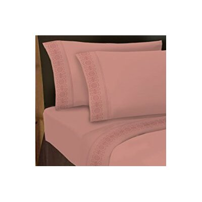 Hotel 4 Piece 1000 Thread Count Sheet Set Color: Begonia