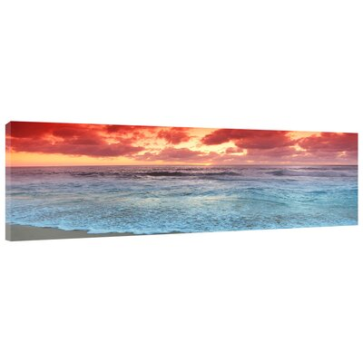 'Sunset Beach' Photographic Print on Wrapped Canvas
