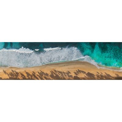 'North Shore Aerial' Graphic Print on Canvas