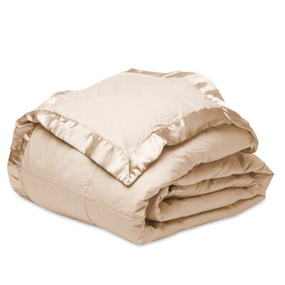 Down Alternative Cotton Blanket Size: Twin, Color: Khaki