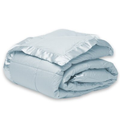Down Alternative Microfiber Blanket Color: Light Blue, Size: Twin