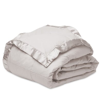 Down Alternative Microfiber Blanket Color: Light Grey, Size: Full/Queen