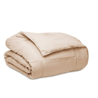 Down Alternative Dream Comforter with Microfiber Shell Size: Twin, Color: Taupe
