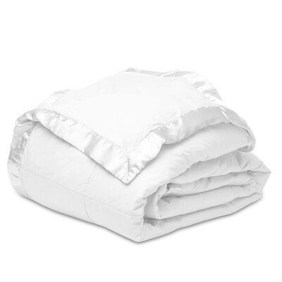 Down Alternative Cotton Blanket Size: Twin, Color: White
