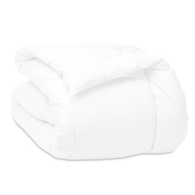 Cloud Down Alternative Cotton Comforter Size: Full/Queen, Color: White