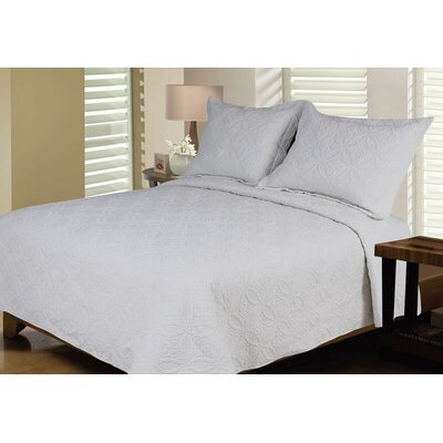 Reversible Quilt Set Size: Twin / Twin XL, Color: Grey