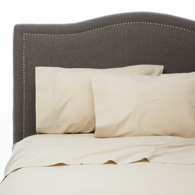 Hemstitch Sheet Set Size: King, Color: Natural