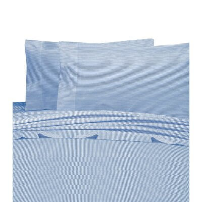 Chambray 200 Thread Count 100% Cotton Sheet Set Color: Blue, Size: California King