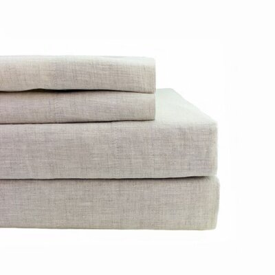 Belgian Linen Pillowcase Size: King, Color: Natural