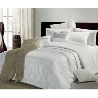 3 Piece Reversible Duvet Cover Set Size: King