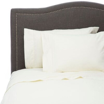 Hemstitch Sheet Set Color: Ivory, Size: Queen