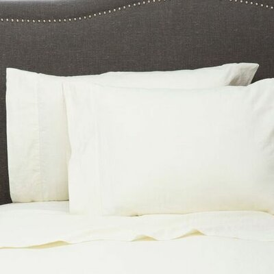 Hemstitch Pillowcase Size: Standard, Color: Ivory
