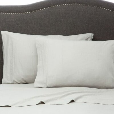 Hemstitch Pillowcase Size: Standard, Color: Silver