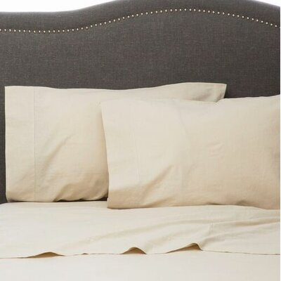Hemstitch Pillowcase Size: Standard, Color: Natural