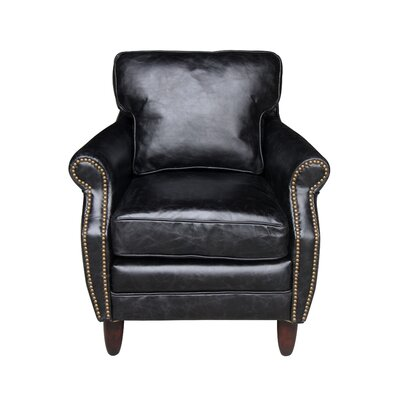 Leeds Club Chair Upholstery: Belon Black