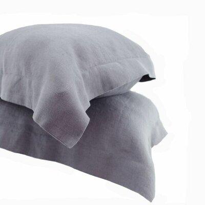 Nahyun Linen Euro Sham Color: Dark Gray, Size: Standard