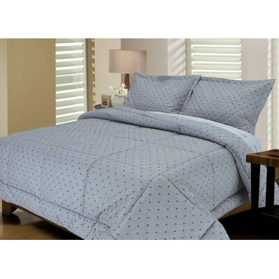 Tri-Diamond Reversible Comforter Set Size: King