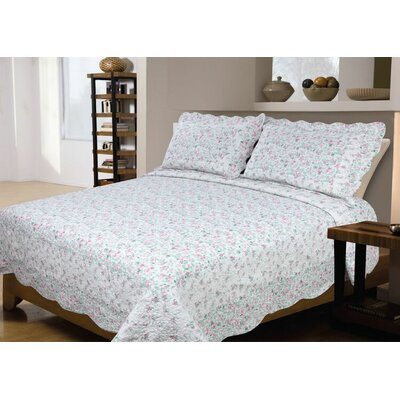 Rose Reversible Quilt Set Size: King