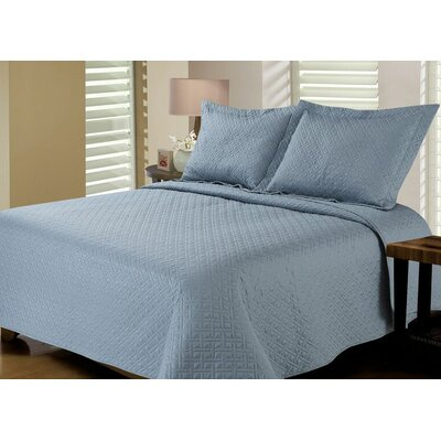 Reversible Quilt Set Size: Twin / Twin XL, Color: Lead Grey