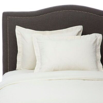 Hemstitch 3 Piece Duvet Set Size: Full/Queen, Color: Ivory