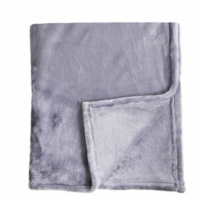 Bliss Velvet Fleece Blanket Color: Amethyst, Size: Full / Queen