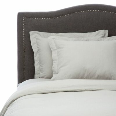 Hemstitch 3 Piece Duvet Set Size: Full/Queen, Color: Silver