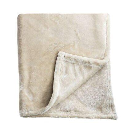 Bliss Velvet Fleece Throw Color: Taupe