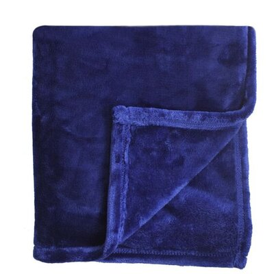 Bliss Velvet Fleece Blanket Size: King, Color: Eclipse