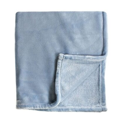 Bliss Velvet Fleece Blanket Size: Twin / Twin XL, Color: Blue
