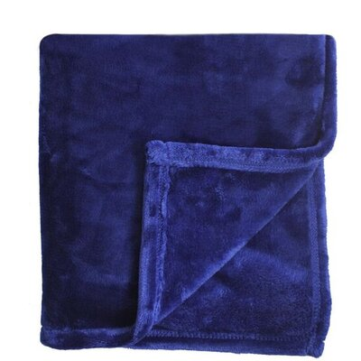 Bliss Velvet Fleece Throw Color: Eclipse