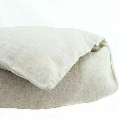 Belgian Duvet Cover Size: King, Color: Natural