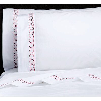 Loops 300 Thread Count Percale Sheet Set Size: Queen, Color: Real Red