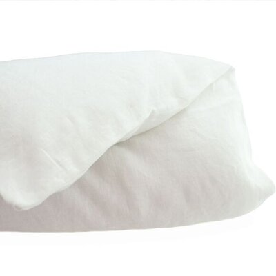Belgian Duvet Cover Size: King, Color: White
