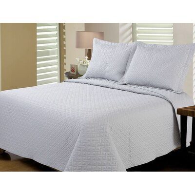 Reversible Quilt Set Size: King, Color: Silver
