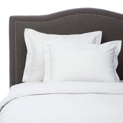 Hemstitch 3 Piece Duvet Set Size: Full/Queen, Color: White