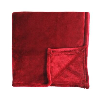 Bliss Velvet Fleece Throw Color: Red Dahlia
