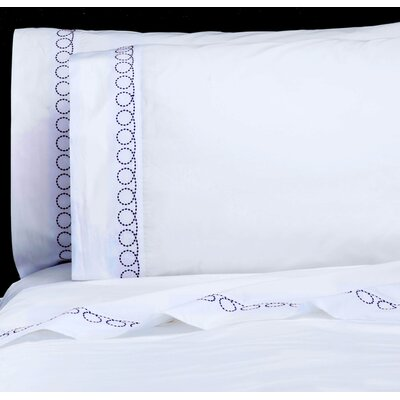 Loops 300 Thread Count Percale Sheet Set Size: Full, Color: French Blue