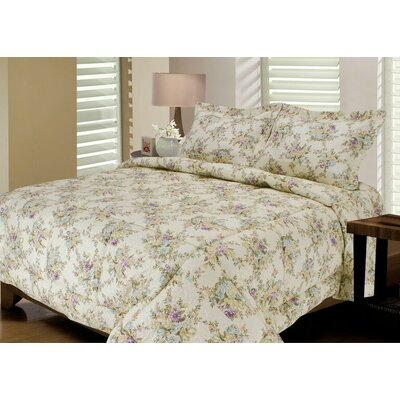 Rose Quilted Reversible Comforter Set Size: King